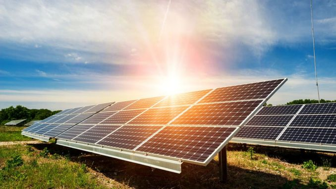 electricity from the sun increased in percent