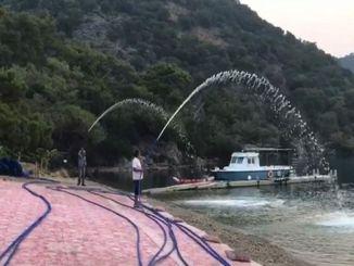 Daksader installierte ein Feuerlöschsystem gegen Waldbrände in Hamam Bay.