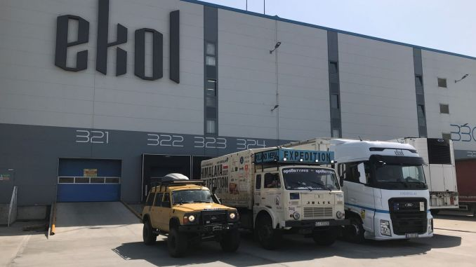 Ekol supports the humanitarian and cultural expedition from Europe to Asia.