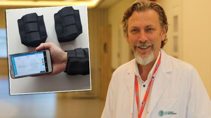 wristband designed to prevent hand tremor