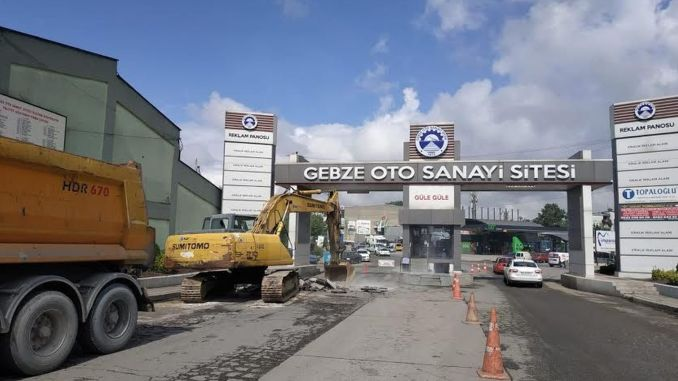 gebze auto industry site superstructure works continue