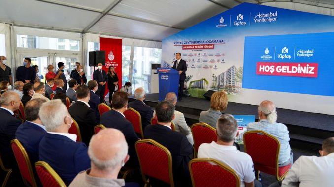 Kiptasin Zeytinburnu locamahal project met with its first owners