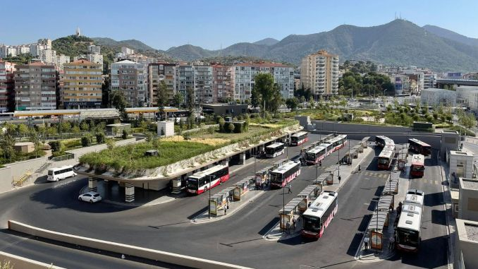 move against drought Green roof period in big buildings in izmir