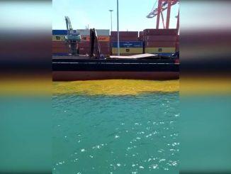 Gegen das Schiff, das in Mersin schmutzigen Ballast im Meer hinterließ, wurde eine Geldstrafe von einer Million Tausend TL verhängt.