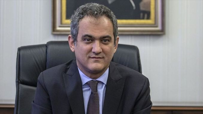The Minister of National Education has changed and Mahmut Ozer has been appointed instead of Ziya Selcuk.