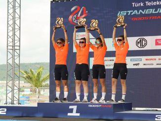 Женская велокоманда suzuki выиграла соревнования turk telekom istanbul h boostrace