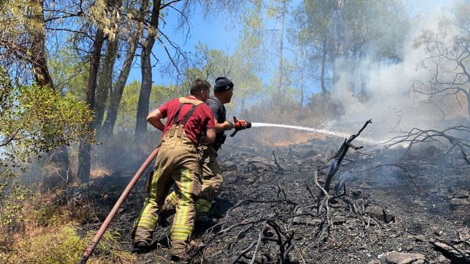 burning areas will get warmer