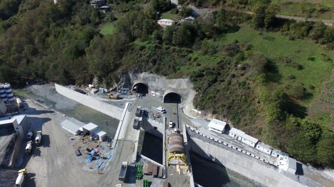 kilometers away from the light in the new zigana tunnel project