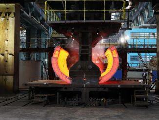 необработанная часть базы реактора АККУЮ НГС, изготовленная в атоммаше