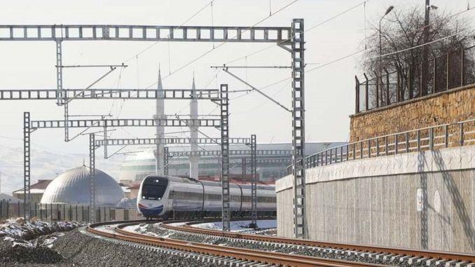 km Teil von Ankara Sivas YHT Line besteht aus der alten Eisenbahnlinie