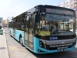 अंताल्या सार्वजनिक परिवहन शुल्क में प्रतिशत की वृद्धि
