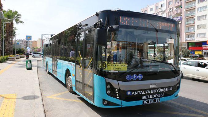 antalya public transportation fees increased by percent
