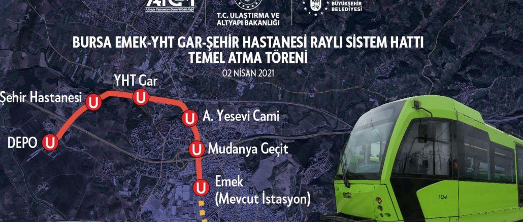 Work begins on bursa city hospital metro line