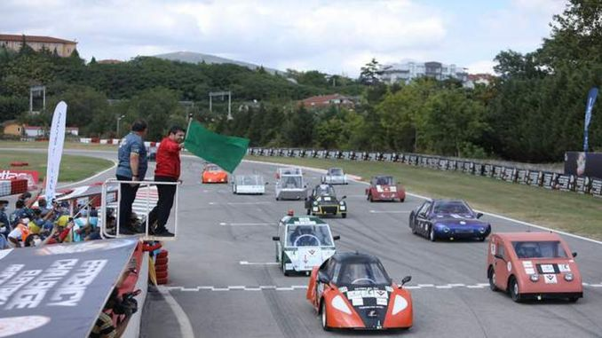 The final enthusiasm was experienced in the efficiency challenge electric vehicle races