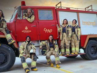 Первая женщина-пожарный в истории пожарной части ИББ