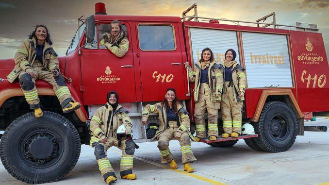 أول امرأة إطفائية في تاريخ قسم إطفاء الحرائق