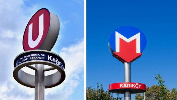 أثار الشعار الذي يحتوي على الحرف u في مترو إسطنبول جدلاً