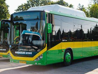 livrarea orașului de gaze naturale din autobuz în Ucraina