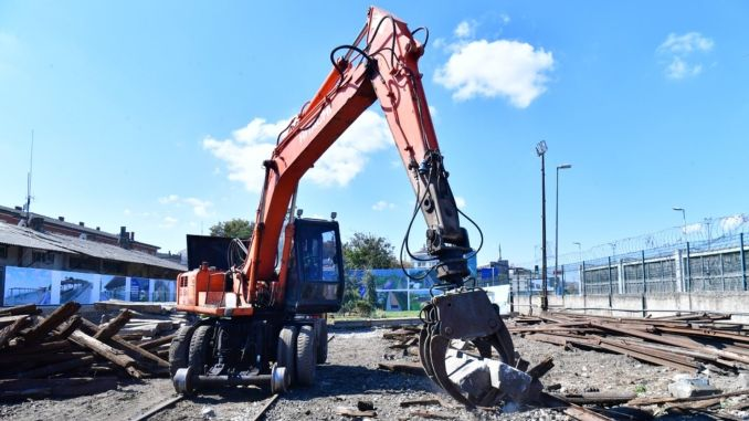 Rail installation works have started on the company excavation line
