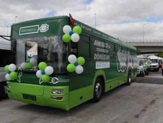 首都的舊公交車正在改用電動