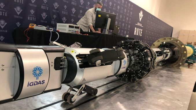 İgdasin's robot, which protects natural gas lines against the risk of earthquakes, is activated