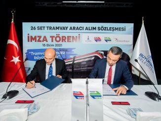 на придбання електричного трамвайного набору Ізмір Буюкшехір bozankaya підписав договір з