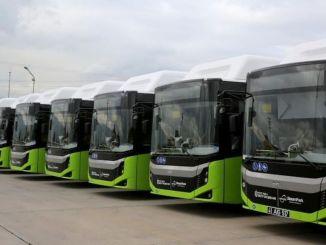 L'un des bus pris par la ville métropolitaine de Kocaeli a atteint la ville.
