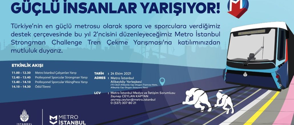 metro istanbul employees will pull the ton train