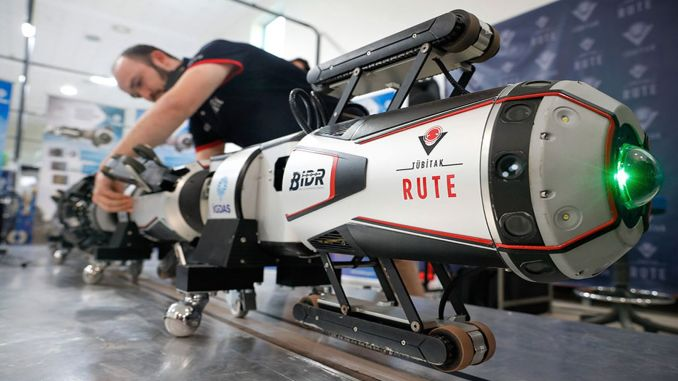 The robot eye developed by tubitak will detect gas leaks in natural gas pipes