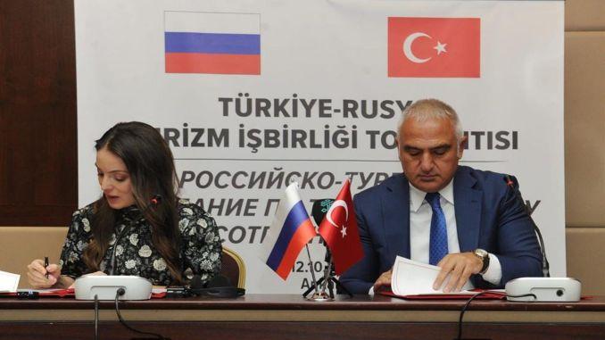 Gemeinsamer Tourismus-Aktionsplan zwischen der Türkei und Russland unterzeichnet