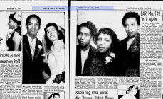Say You Saw It in the AFRO: More coverage of my parents' marriage in a black newspaper, this time with a photo.