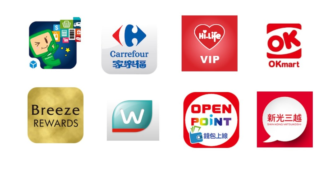 My FamiPay統一超商OPEN錢包萊爾富Hi pay OK超商OK Pay 家樂福Carrefour Pay新光三越Skm pay微風百貨Breeze Pay屈臣氏Watsons Pay