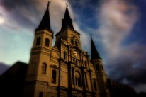 From the front. St. Louis Cathedral during magic hour.