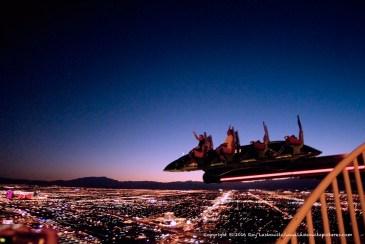 Flying over Las Vegas.