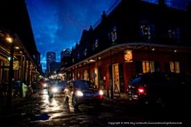 French Quarter traffic.