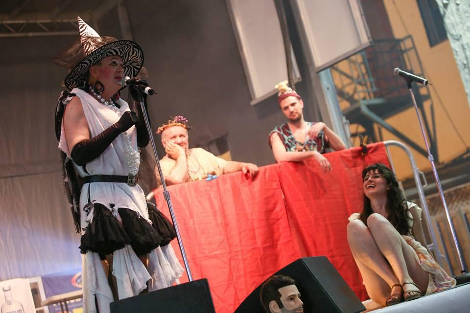Photo above: Ben Powless during Nuit Rose Closing Ceremonies, Pride Toronto (2015)