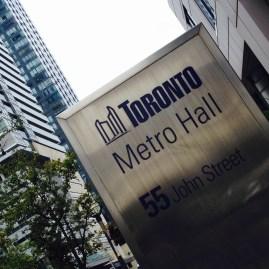 Toronto Metro Hall sign