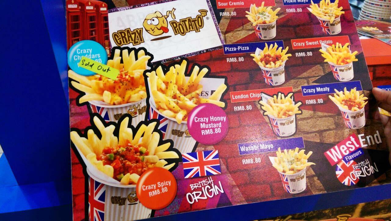 Crazy Potato Aeon Bukit Indah RK