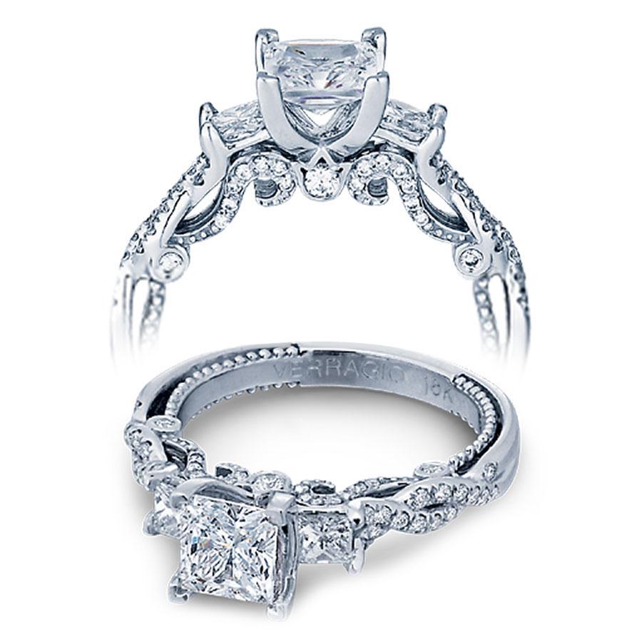 Verragio Engagement Rings Gold 055ctw Diamond Setting