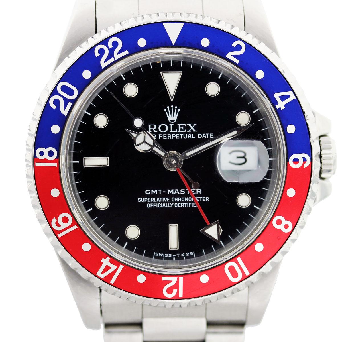 Rolex GMT Master 16710 Pepsi Bezel Mens Watch Boca Raton