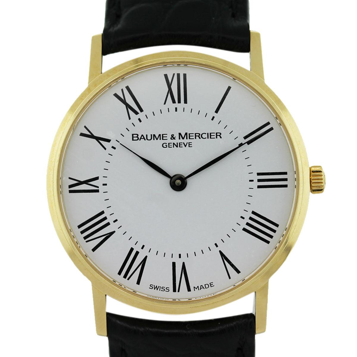 Baume Amp Mercier MOA08070 Classima 18k Yellow Gold Watch