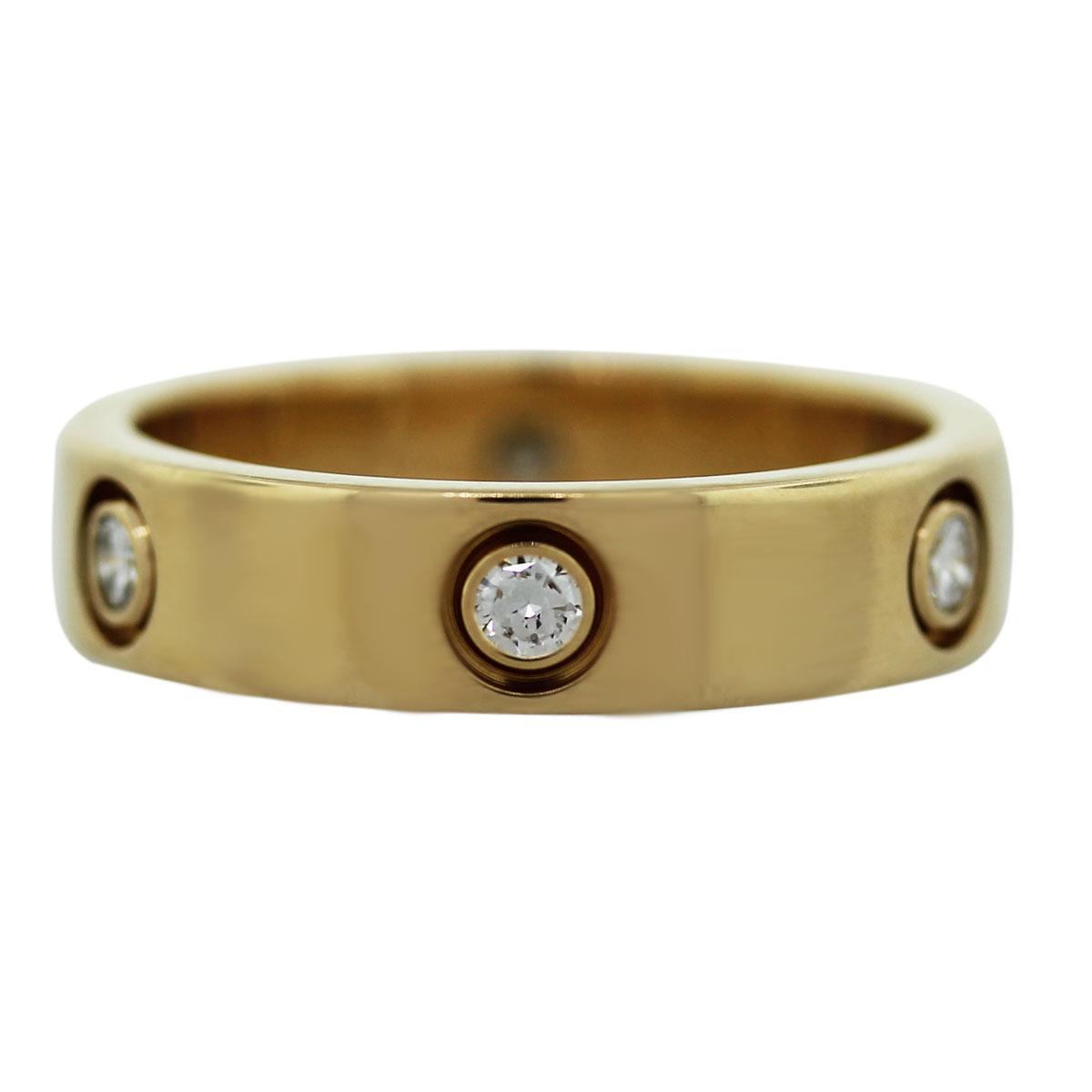 Cartier 18k Yellow Gold 6 Diamond LOVE Ring Size 63 Boca Raton