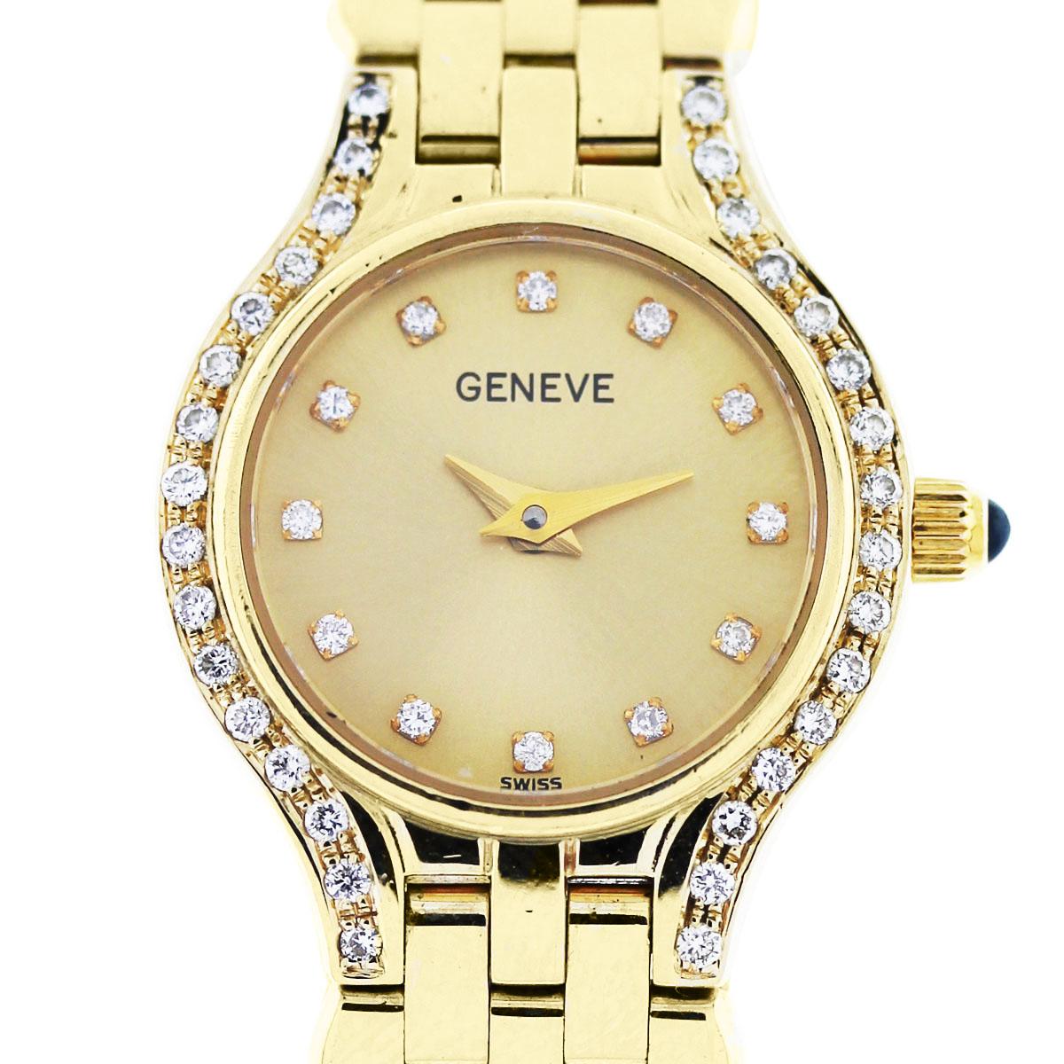 Geneve 14k Yellow Gold Diamond Ladies Watch Boca Raton