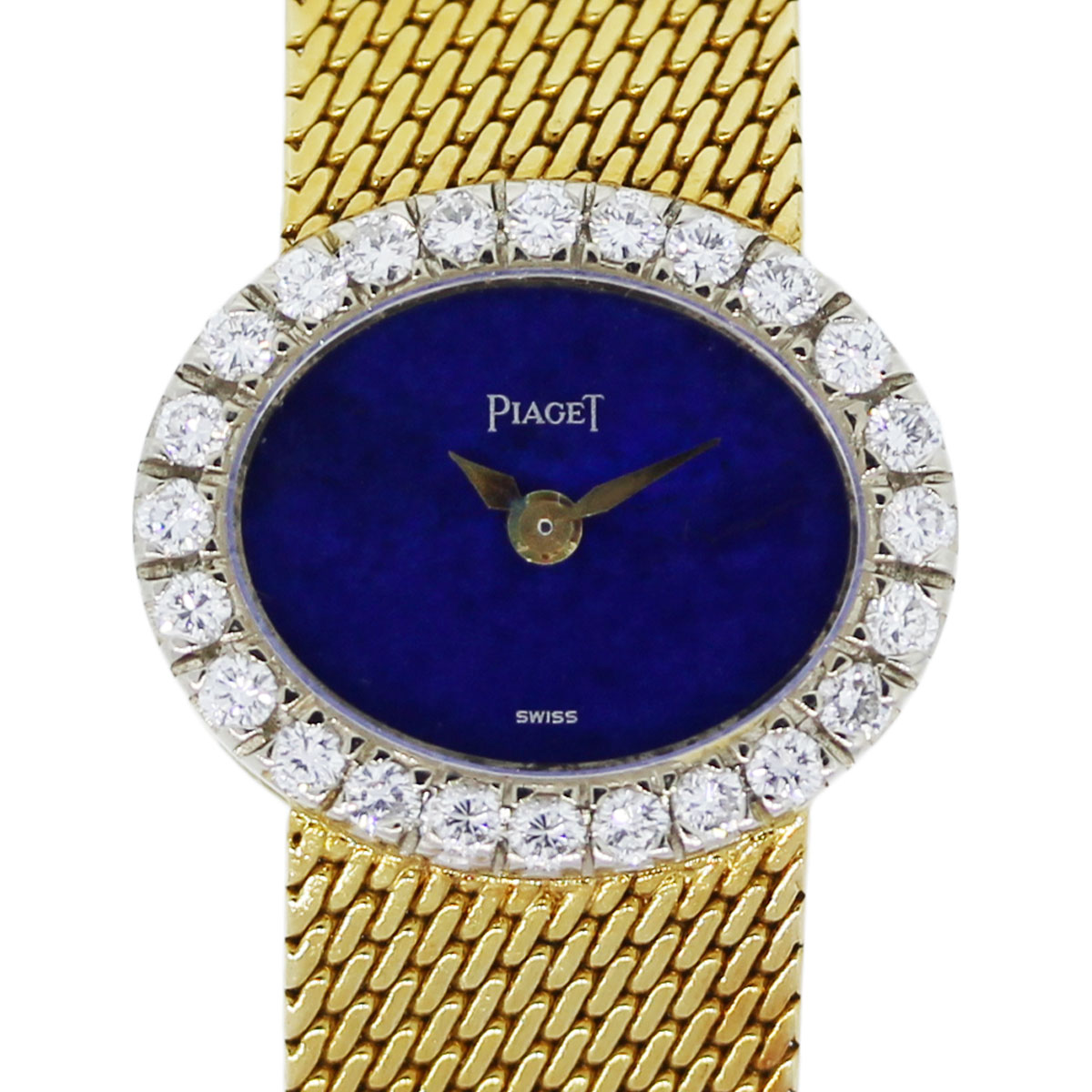 Piaget Mini 18k Yellow Gold DiamondLapis Dial Ladies