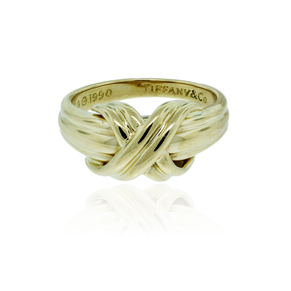 Tiffany Amp Co 18k Yellow Gold Signature X Ring