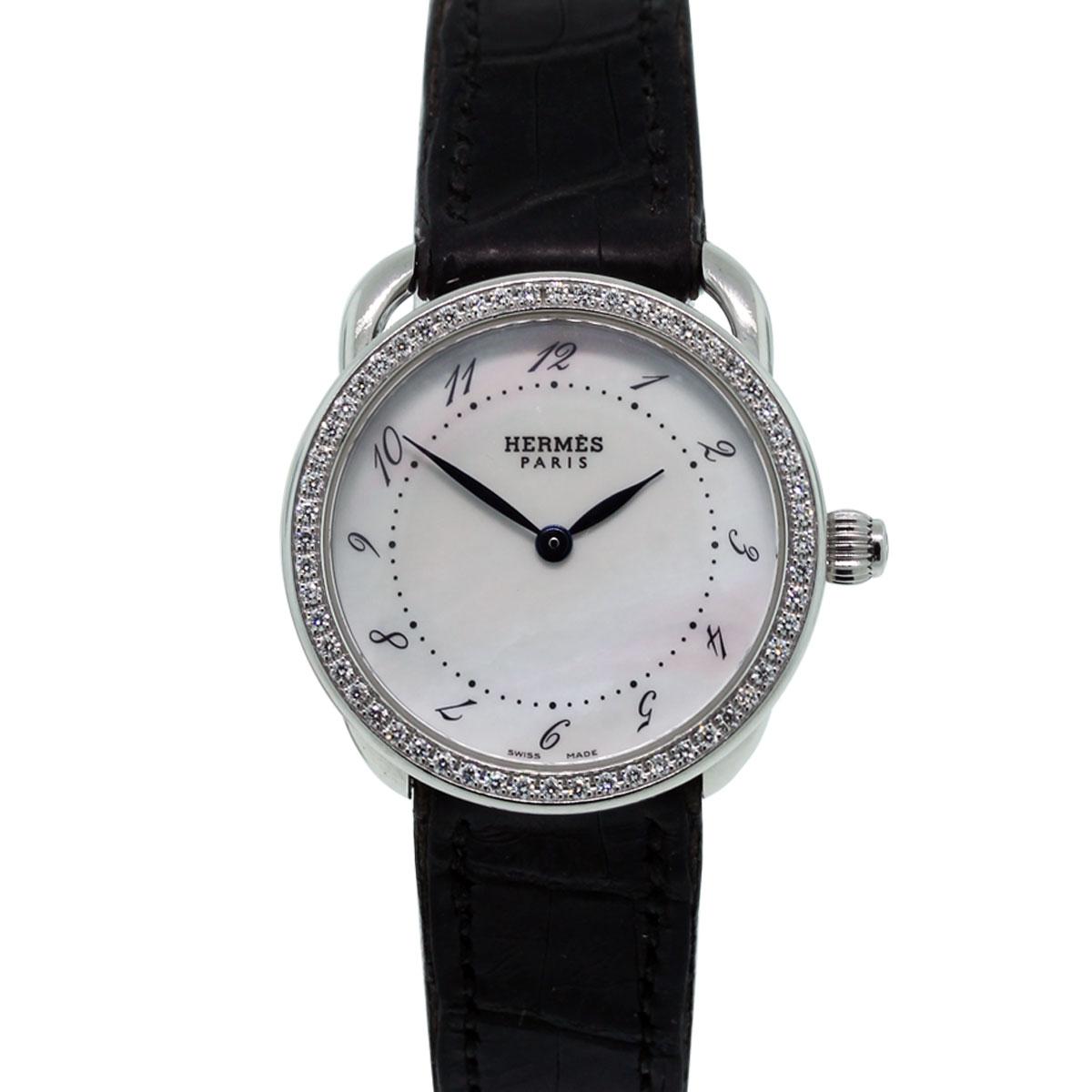 Hermes Arceau AR5230 Diamond Bezel Ladies Watch