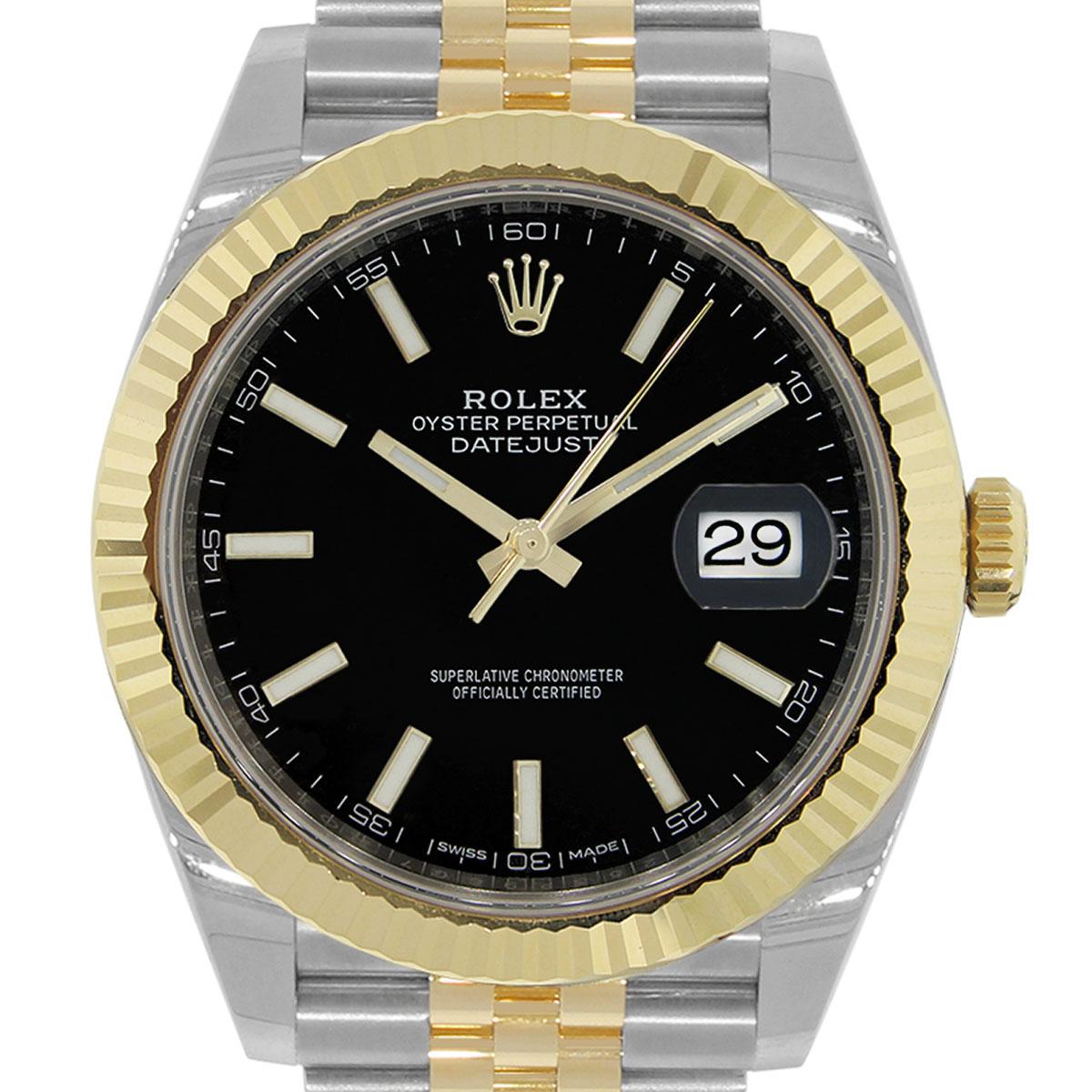 Rolex 126333 Datejust II 18kStainless Steel Black Dial Watch