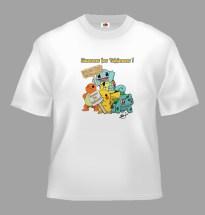 T-Shirts humoristiques sur les Pokémons