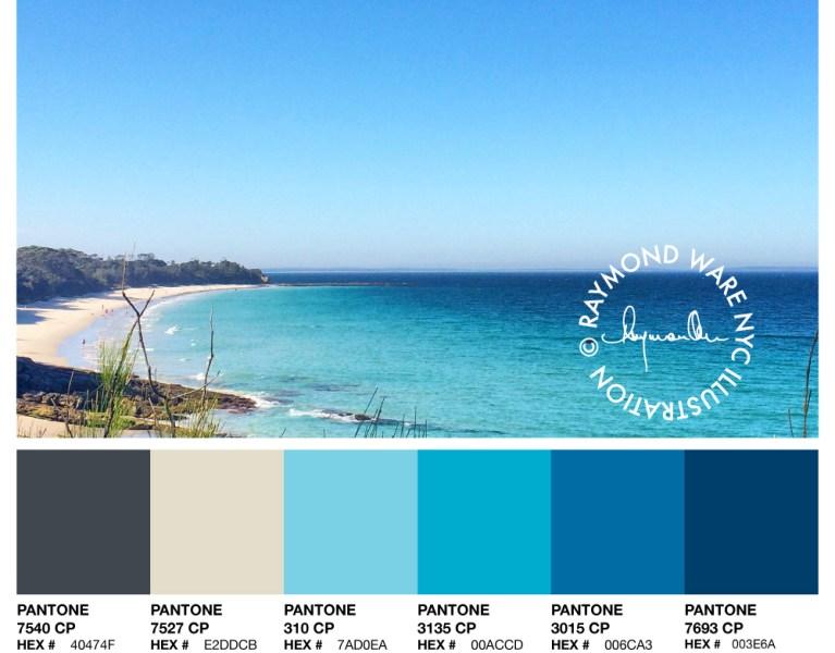 Ocean Pantone Palette