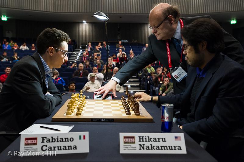 Round 5: Fabiano Caruana vs Hikaru Nakamura